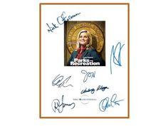 Parks and Recreation Pilot Episode TV Script Autographed: Amy Poehler, Rashida Jones, Chris Pratt, Aziz Ansari, Jim O'Heir, Nick Offerman