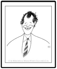 "David Letterman  Hand signed by Al Hirschfeld  Limited-Edition Lithograph  Edition Size: 100.  20"" x 18"""