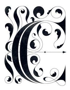 "Drop cap ""C"" by Thomas Amby Johansen, via Behance"