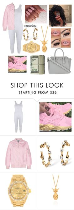 """RICH$GANG 🤘🏼💸😍"" by cutetbae ❤ liked on Polyvore featuring Palm Beach Jewelry, Rolex, Lee Renee and Givenchy"