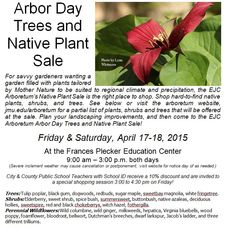 Plan to shop the Native Plant Sale to buy native trees, shrubs and perennial Wildflowers to enhance any home or business garden! Arboretum Friends receive a discount, see http://www.jmu.edu/arboretum/donate.shtml for information. Or cut ad from DNR Tuesdays week of and week before for a 10% discount.