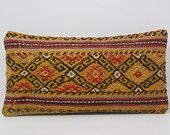 designer cushion 10x20 DECOLIC vintage cushion yellow throw pillow couch embroidered pillow gold bed throw pillow 15512 kilim pillow 25x50