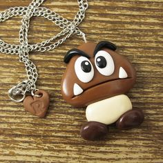 Large Goomba Inspired Necklace por rapscalliondesign en Etsy, $20.00
