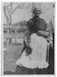 Murchison Relatives | Photograph of Mahala Murchison in a dress and apron, posed out-of ...