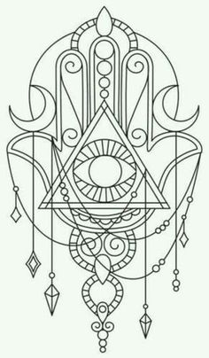 HAMSA / ‎‫خمسة‬‎‎ / ‫חַמְסָה‬‎‎ / AMULET / KHAMSAH / HAND OF FATIMA / TATTOOSMore Pins Like This At FOSTERGINGER @ Pinterest