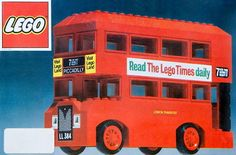Construction Toy by LEGO 384 London bus / Double Decker Bus Lego London, London Bus, Rare Lego Sets, Lego Sets For Sale, Lego Wheels, Lego Friends Sets, Lego Boxes, 1970s Toys, Vintage Lego