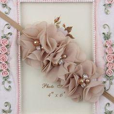 Ideas For Craft Flower Head Bands Felt Flowers, Diy Flowers, Fabric Flowers, Paper Flowers, Ribbon Flower, Diy Headband, Baby Girl Headbands, Baby Bows, Creation Deco