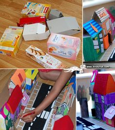 recycling carton boxes for kids activities