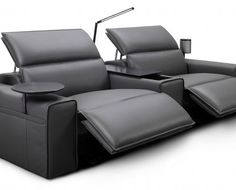 Transform your living room into a home cinema with King Living - The Interiors Addict - Awesome Furniture Home Theater Room Design, Home Cinema Room, Home Theater Rooms, Home Theater Seating, Sofa Design, King Furniture, Reclining Sofa, Living Room Sofa, Sofa Set