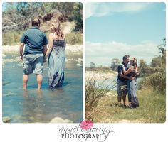 Pre-wedding shoot in the river, love, happiness, forever after
