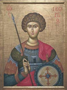 Byzantine Icons, Byzantine Art, Orthodox Icons, Saint George, Sacred Art, Christian Art, Kirchen, Religious Art, Style Icons