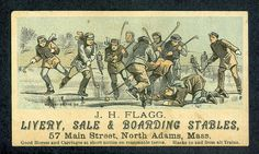 Antique Hockey Trading Card - Circa 1879