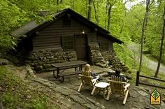 1 Bedroom w/ spa tub Cabins :Devil's Den State Park, Arkansas