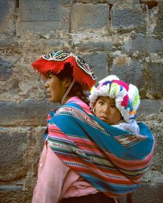 Baby wearing in Peru!