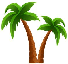 palm tree clipart image tropical coconut palm tree icon clipart rh pinterest com coconut tree clipart images coconut tree clipart vector