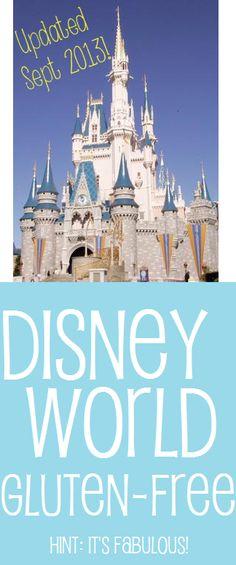 Via @Glutenista Gluten-Free Gluten-Free: Comprehensive #Glutenfree Guide to @Colleen Sweeney Sweeney Egan Disney World - Updated September 2013. #Celiac #Coeliac