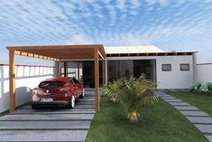 Pergola With Glass Roof Pergola On The Roof, Small Pergola, Patio Roof, Pergola Plans, Pergola Ideas, Roof Design, Exterior Design, House Design, Beton Garage