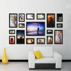CN Home Decor Wood effect Multi Picture Photo Frame Collage Wall Hang Set for sale online Multi Picture Photo Frames, White Photo Frames, Picture On Wood, Picture Walls, Black Frames, Frame Wall Collage, Collage Picture Frames, Frames On Wall, Collage Art