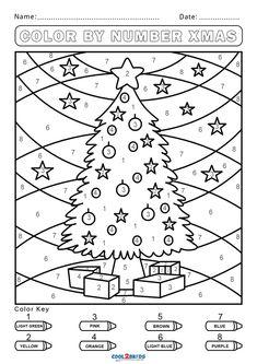 Kindergarten Colors, Preschool Colors, Numbers Preschool, Numbers For Kids, Preschool Activities, Christmas Math, Preschool Christmas, Noel Christmas, Christmas Activities