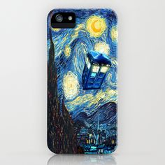 Tardis Doctor Who Starry Night iPhone Case