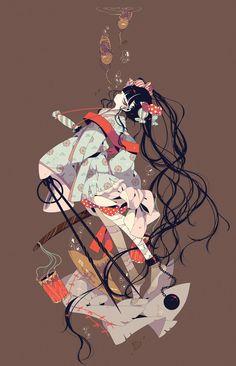 Anime Art Girl, Manga Art, Anime Manga, Anime Girls, Pixiv Fantasia, Estilo Anime, Anime Japan, Anime Artwork, Character Design Inspiration