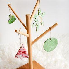 DIY Marbled Clay Christmas Ornament