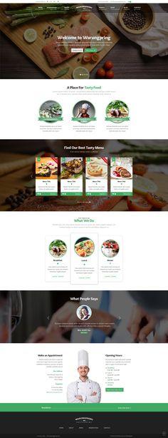Resta - Restaurant PSD Template | Business website, Psd templates ...