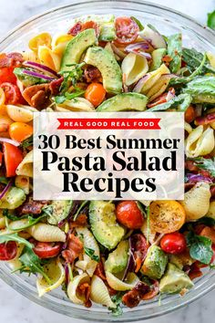 Summer Salad Recipes With Pasta.Favorite Potluck Salads Let's Dish Recipes. Ten Whole Food Plant Based Tomato Recipes You Should Try . Chicken Bacon Ranch Pasta Salad Creations By Kara. Easy Summer Meals, Healthy Summer Recipes, Summer Salad Recipes, Summer Picnic Recipes, Summer Picnic Salads, Salads For Picnics, Best Summer Salads, Easy Pasta Salad Recipe, Pasta Recipes