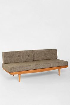 Mid-Century Sofa I like to pretend I'm cool like Frank Lloyd Wright and not put arms on my sofas