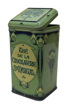 tin canister tobacco can mid century container vintage tin box kitchen decorative box trinket box decor collectible tins Old tin can