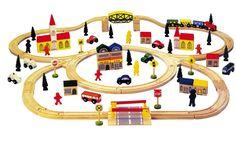 "VENTA TREN JUGUETE INFANTIL DE MADERA, ""MODELO GRAN TREN"". REF BERLÍN_121001, IndalChess.com Tienda de juguetes online y juegos de jardin"