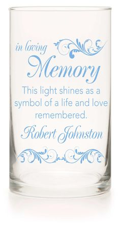 Memorial Candle - Say I Do Lt Blue - Personalized Candle Holders - Wedding Candles - 12