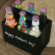 Put together this tasty six pack of treats for dad with this easy diy Father's Day gift idea and tutorial.