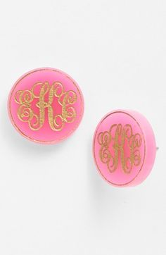 monogram earrings (R)