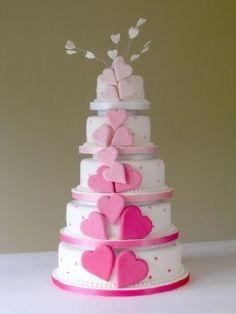 White, Pink, Cake