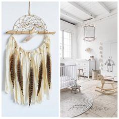 April Sale Large Dream Catcher for Wedding or Nursery Decor, Giant Dreamcatcher, Bohemian Decoration, Pastel Dream Catcher, White Dreamcatch - €31.50 EUR
