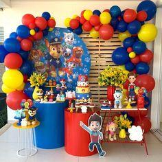 Baby Boy 1st Birthday, Minion Birthday, Minion Party, Paw Patrol Birthday Decorations, Paw Patrol Birthday Theme, Thomas Birthday Parties, Paw Patrol Invitations, Kids Party Themes, Baby Party