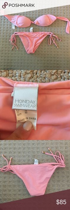 Monday swimwear pink bikini Well fitting pink Monday swimwear bikini! Created by my favorite bikini bloggers Natasha Oakley and Devin Brugman. Runs small Swim Bikinis