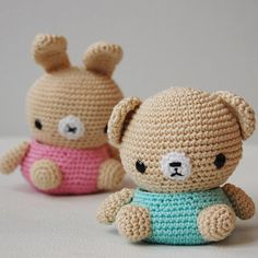 Amigurumi Bear and Bunny Box by Pepika, via Flickr