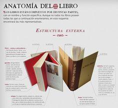 Infografía: Anatomía del libro, primera parte: El exterior