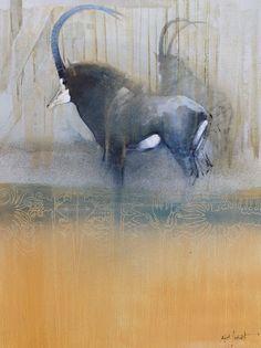 Sable Antelope by Keith Joubert Wildlife Paintings, Wildlife Art, Animal Paintings, South Africa Art, African Art, African Animals, Postmodern Art, Street Art, Biology Art
