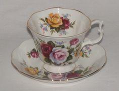 Vintage Royal Albert Bone China Spring Rose Flower Teacup