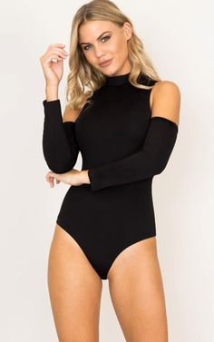 Showpo Bronte bodysuit in black - 6 (XS) Bodysuits Jean Overalls, Pretty Outfits, Looks Great, Jumpsuit, Style Inspiration, Poses, Chic, Bodysuits, Sexy