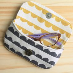 Eye Candy Glasses Case from Betz White's new book, Present Perfect. Made with Kokka Charms fabric by Ellen Baker.