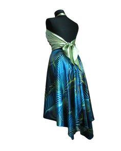 Argentine Tango Dance Skirt Blue Sky by TheGiftofDance on Etsy, $75.00