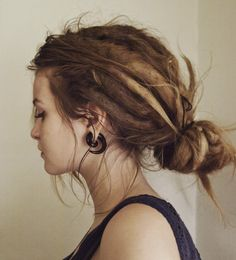 love the dreads and the earrings!