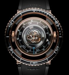 MB&F blowing our mind out again and again with the much anticipated HM7 called Aquapod inspired by jellyfish equipped with a flying #tourbillon and design that inspires one to dream Article live: http://www.ablogtowatch.com/mbf-hm7-aquapod-watch/ #sihhabtw