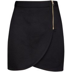 Ted Baker Wrap Front Mini Skirt, Black ($90) ❤ liked on Polyvore featuring skirts, mini skirts, bottoms, saias, faldas, short wrap skirt, short mini skirts, wrap front skirt, ted baker and wrap skirt