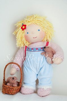 Waldorf inspired Doll  12'' Girl Emily by SewingBoxPoetry on etsy #waldorf doll