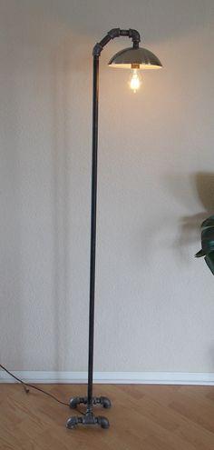 Industrial Minimalist Floor Lamp by Splinterwerx on Etsy, $175.00